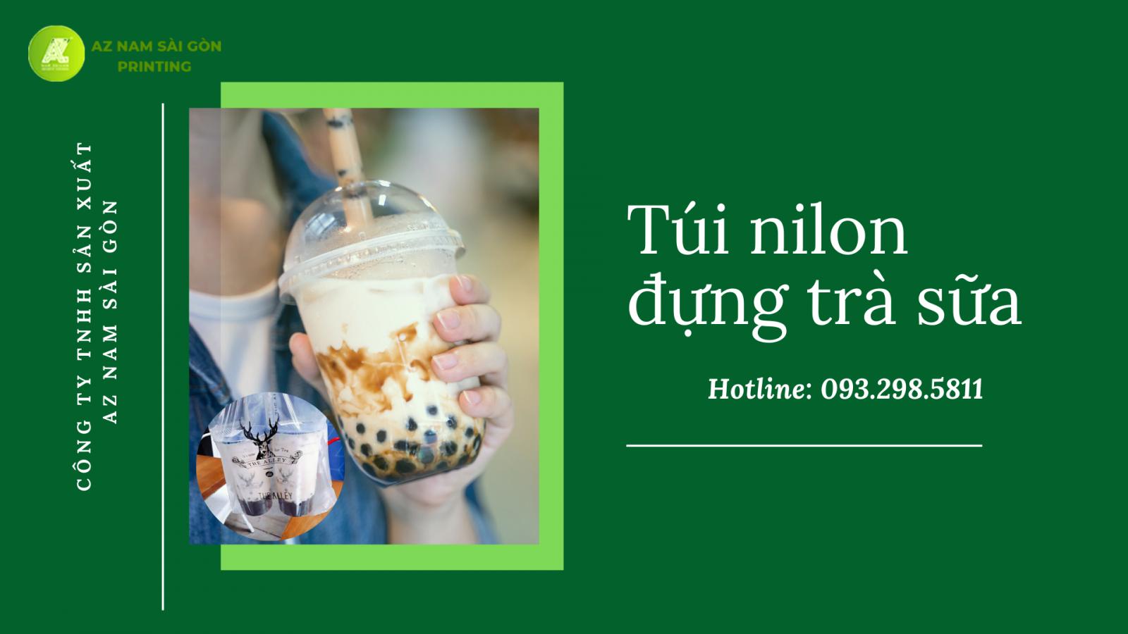 in túi đựng trà sữa tại Tp. HCM