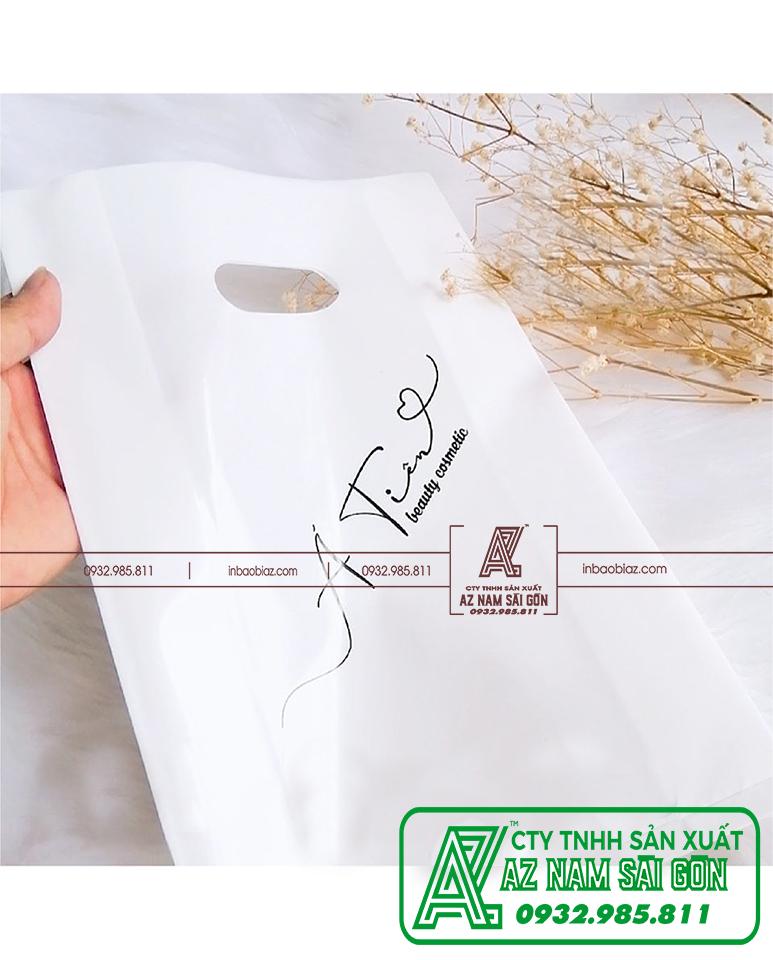 in túi nilon trắng sữa
