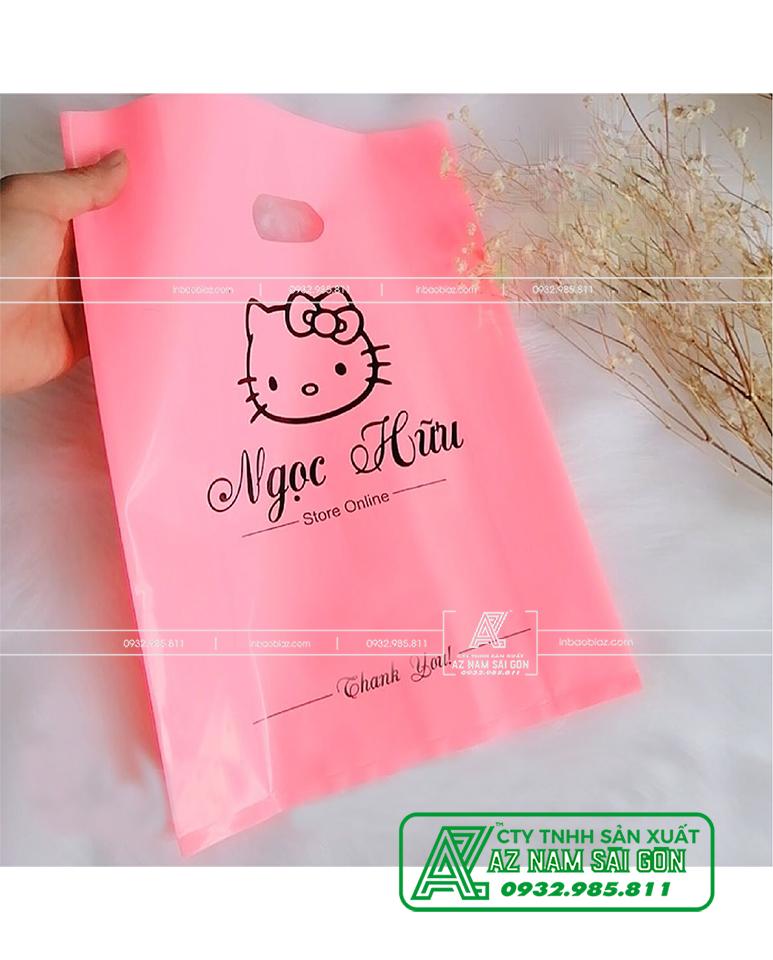 túi nilon Màu Hồng pastel ( Hồng Phấn, Hồng Nhật ) KITTY